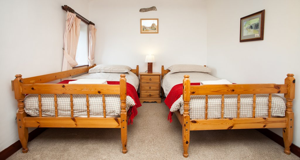 Twin Bedroom, West Cottage, East Briscoe, Baldersdale, Barnard Castle, County Durham Holiday Cottages.
